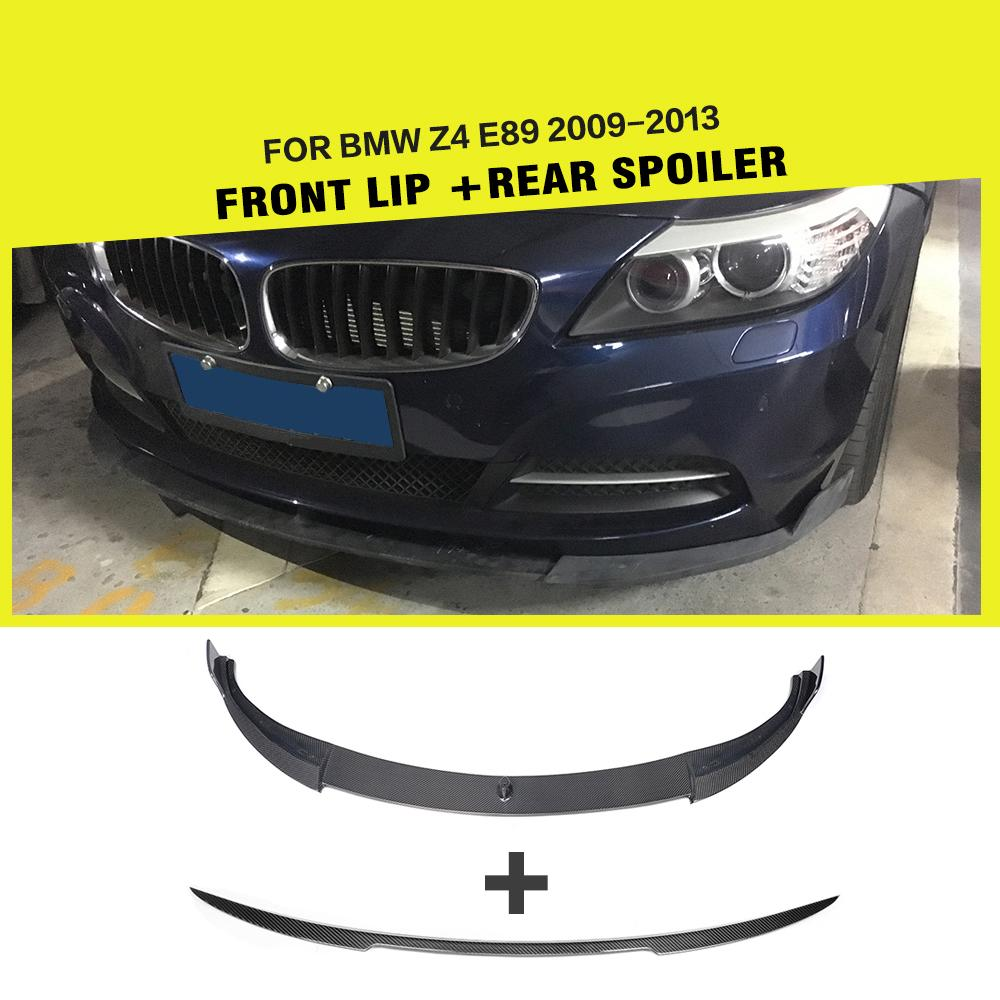 Carbon fiber Racing Front Lip And Rear Trunk Lip Wing Body Kit For BMW E89 Z4 Coupe 2-Door 2009-2013 Car Styling