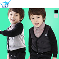 Hot Baby Boy T-shirt Pure Cotton Kids Lattice T-shirt With Long Sleeve Spring-Autumn Boy Children's Clothes Coat Clearance good