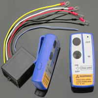 Mayitr High Quality 12V 50ft Car Auto Winch Wireless Remote Control Switch Handset Kit For Jeep