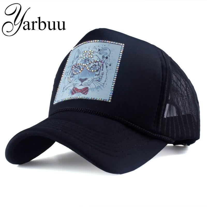 Prix pour [YARBUU] marque casquettes de baseball avec la Bande Dessinée animaux d'été net cap pour femmes Femelle chapeau Strass snapback chapeaux Casquette chapeau