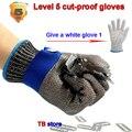 Защитные перчатки уровня 5 с защитой от порезов  361л  стальные проволочные перчатки для подготовки к порезу  металлические перчатки для пище...