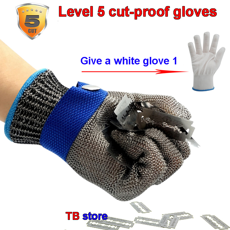 Level 5 cut-proof gloves 361L steel wire preparation Metal cut-proof gloves food processing Meat cutting protective gloves strong 0 35mmpb medical x ray protective gloves ray workplace use gloves lead rubber gloves