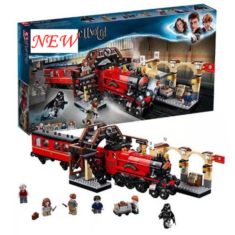 Hogwarts Express Set Train bricks New fit Harri Blocks Potter Bricks Kids boys Toys for Christmas Gift with figures