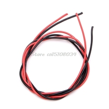 New 16 AWG Gauge Wire Flexible Silicone Stranded Copper Cables For RC Black Red S08 Drop ship