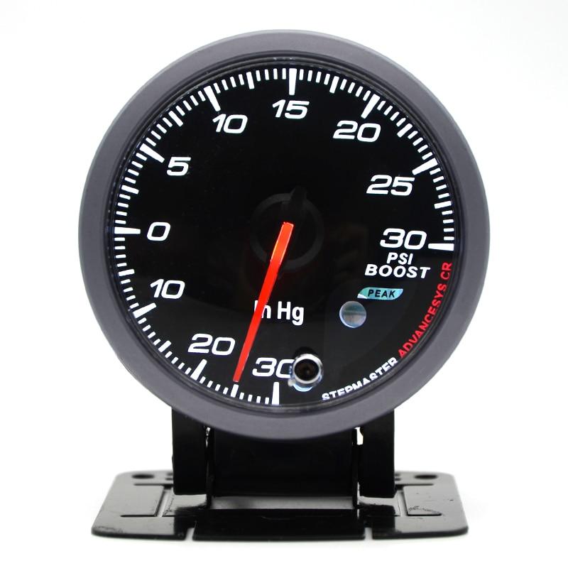 dragon gauge 60mm boost turbo gauge 30 30 psi black color. Black Bedroom Furniture Sets. Home Design Ideas