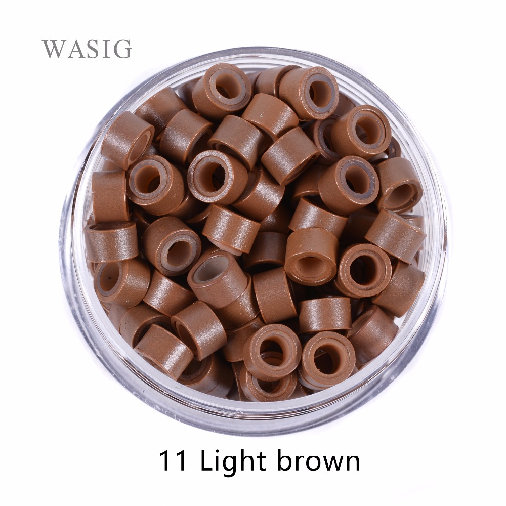 1000pcs 11# Light Brown 5mm*3mm*3mm Silicone Micro Ring/Links/Beads for i tip hair extension tube|silicone micro rings|micro ringmicro silicone rings - AliExpress