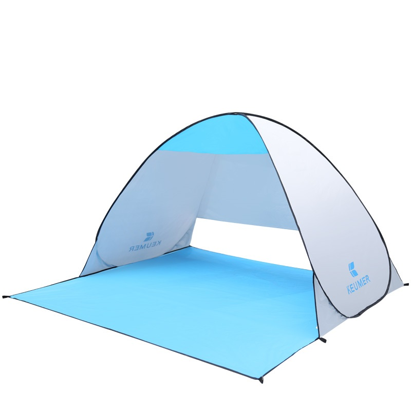 Quick Automatic opening beach tent sun shelter shade 2 person Sun Protection Pop Up tent Awning 5 colors