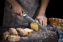 Damascus Bread Knife – Turwho 8″ Damascus Bread Knife