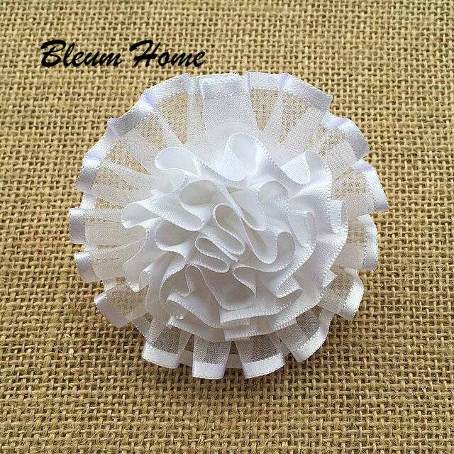 4 stücke Mode Mädchen Haarband Nette weiße tüll blume Haar Clip ...