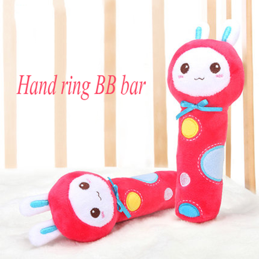 Cartoon Animal Hand Bell Baby Rattles Plush Gifts Learning Musical Toy Plush Rattle Kids Baby Toys Educational Doll 50C0565