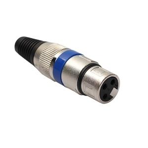 Image 4 - Yeni 1 çift XLR 3 Pin erkek tak + dişi Jack mikrofon mikrofon ses konektörü adaptörü