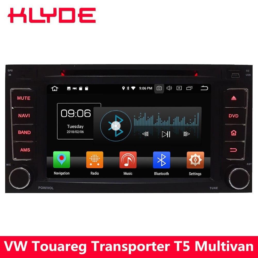 KLYDE 4G Android 8.0 Octa Core 4 GB + 32 GB voiture lecteur DVD Radio pour Volkswagen Touareg 2002 2003 2004 2005 2006 2007 2008 2009 2011-