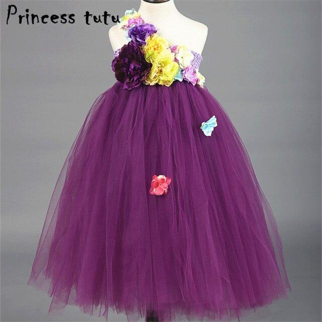 Phantasie Kinder Blume Mädchen Kleid Lila Hochzeit Kleid Ballkleid ...