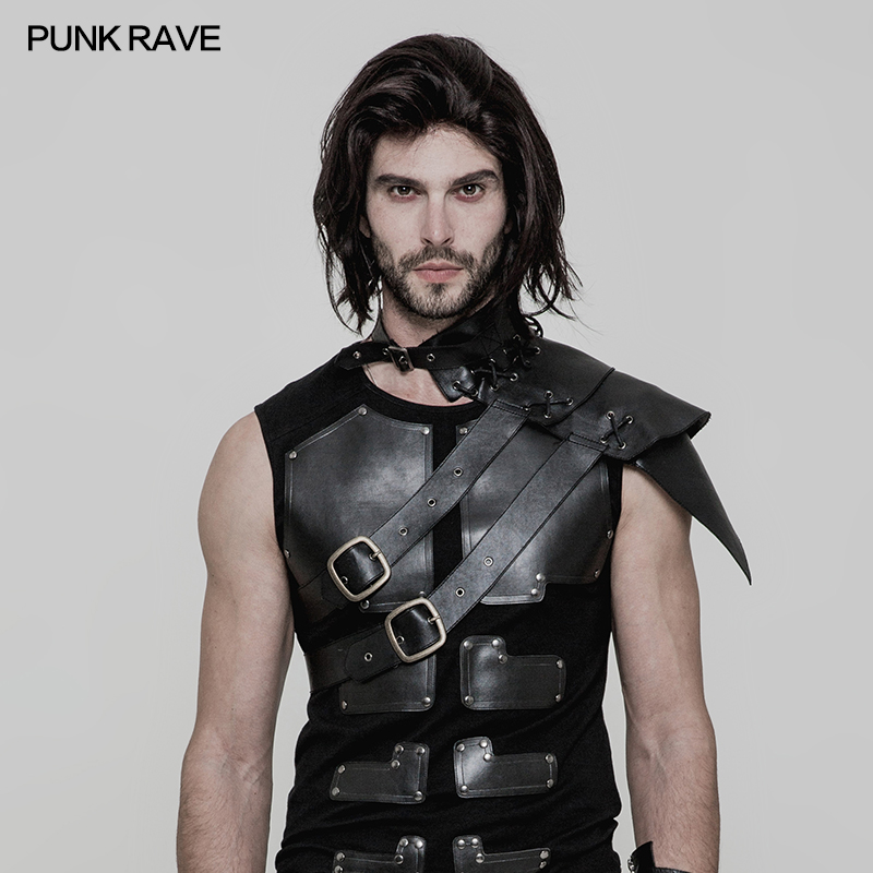 Punk Rock Gothic Cosplay Pirate Steampunk Retro Palace Leather Arm Armor Performance Accessories S172