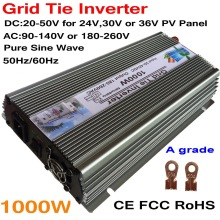 1000W 30V 60cells/36V 72cells MPPT Grid tie inverter 20-45VDC to AC180-260V or 90-140V on grid tie micro inverter 1000W