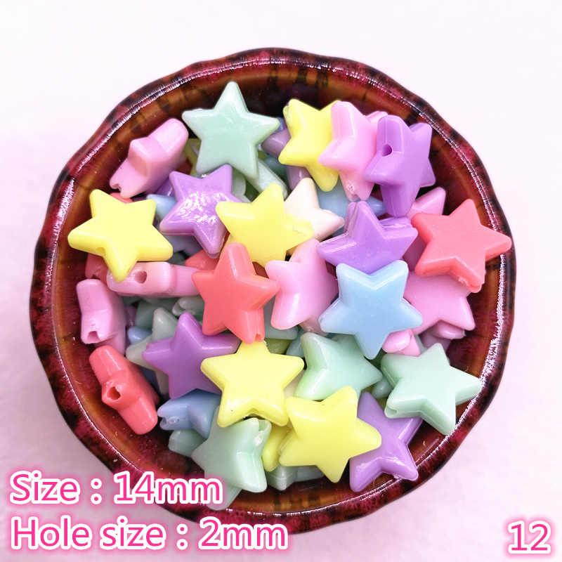 50 pçs/lote multicor acrílico grande buraco contas para crianças jóias colar fazer contas pulseiras