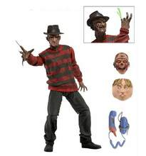 "NECA A Nightmare on Elm Street Freddy Krueger 30th PVC Action Figure Collectible Toy 7"" 18CM(China)"