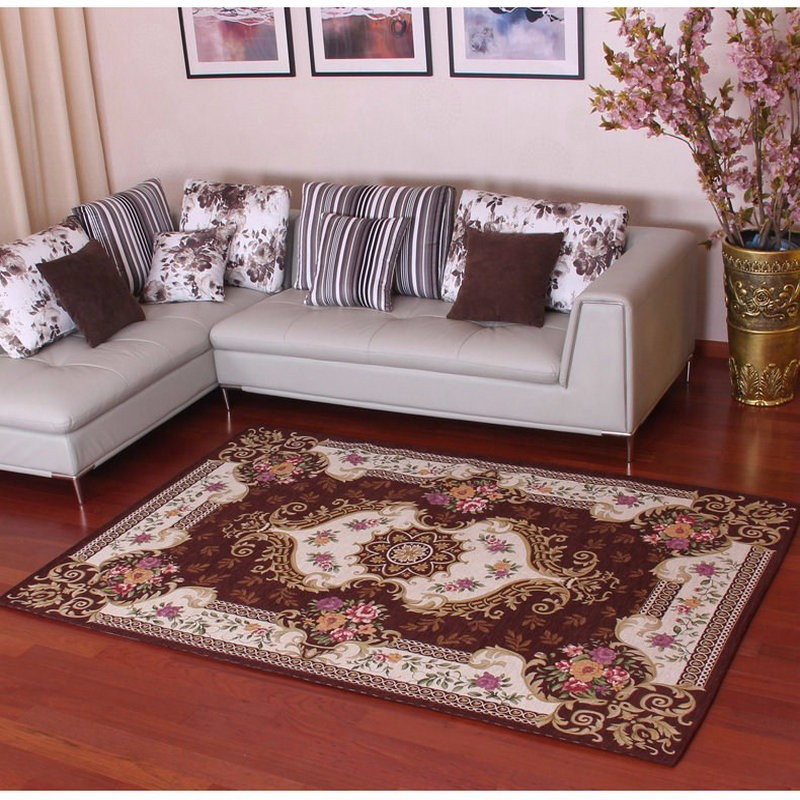 new arrival european style anti skid premium jacquard carpet for living room red black brown. Black Bedroom Furniture Sets. Home Design Ideas
