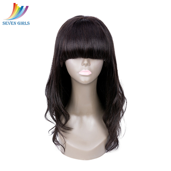 Brazilian Natural Wave 13*4 Lace Front Human Hair Wigs Natural Color Raw Virgin Hair Human Hair Wigs With Bangs Free Shipping