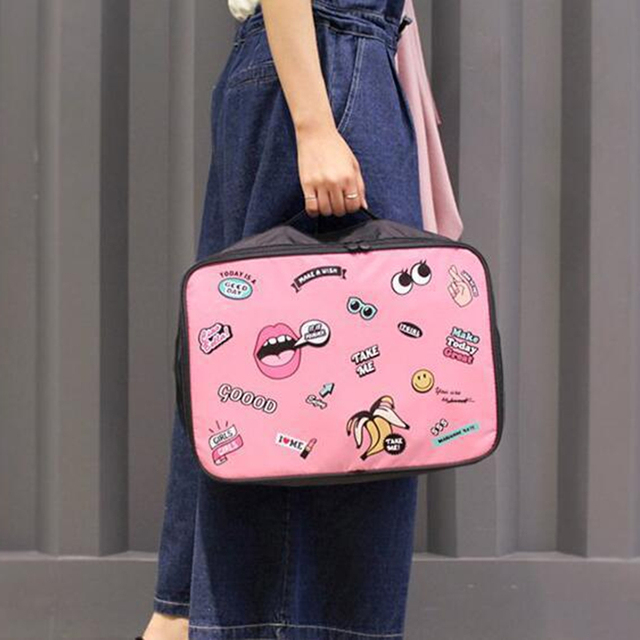 RUPUTIN Travel Cartoon Cosmetic Bag Large Capacity Makeup Cases Portable Bathroom Storage Organizer Bags Waterproof Make Up Bag 3