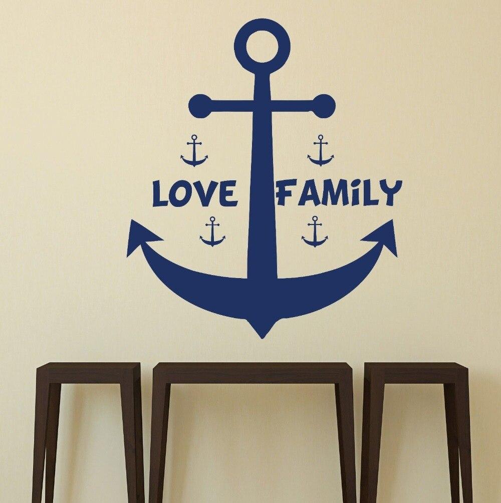 Liebe anker vinyl aufkleber Familie Kinder zimmer wandtattoos ...