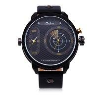 VH Military Men S Quartz Wrist Watches Luxury 2 Time Zone Leather Strap Watches Clock Reloj