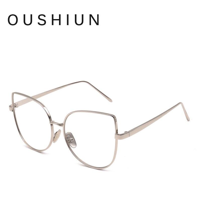 Oushiun Fashion Cat Eye Optische Brillen Frauen Männer Klare Linse ...
