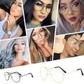 Clásica Marco de Oro Claro Gafas Miopía Gafas de Marco Claros Mujeres Hombres Montura de gafas Ópticas de Vidrio de La Aviación Luneta Y34