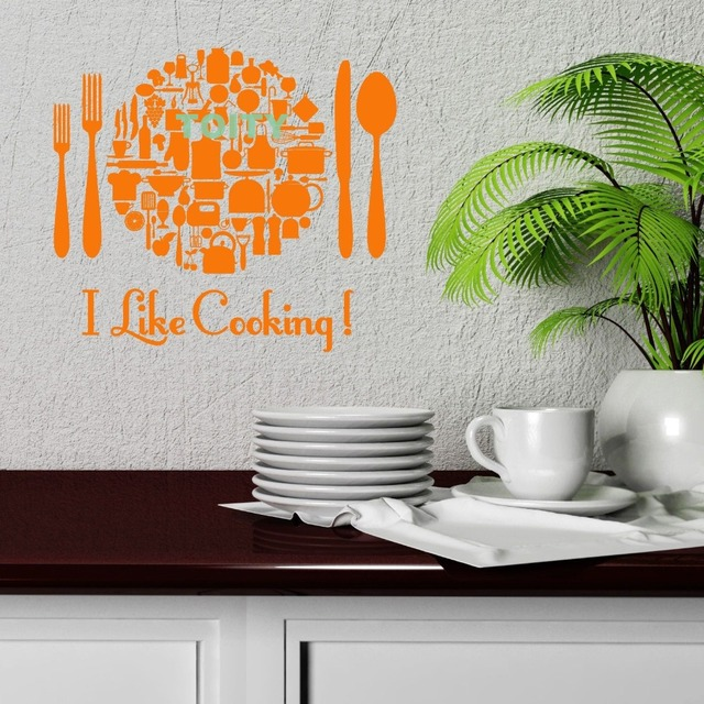 Wall Vinyl Sticker Kitchen Cooking Restaurant Chef Housewife Food Decal Window Door Home Decor Art Murals & Wall Vinyl Sticker Kitchen Cooking Restaurant Chef Housewife Food ...