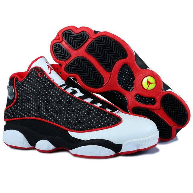 0f21e895cba8 AIR US JORDAN 13 XIII Men Basketball Shoes Bred He Got Game grey toe city  of flight Outdoor Sport Sneakers Red Black