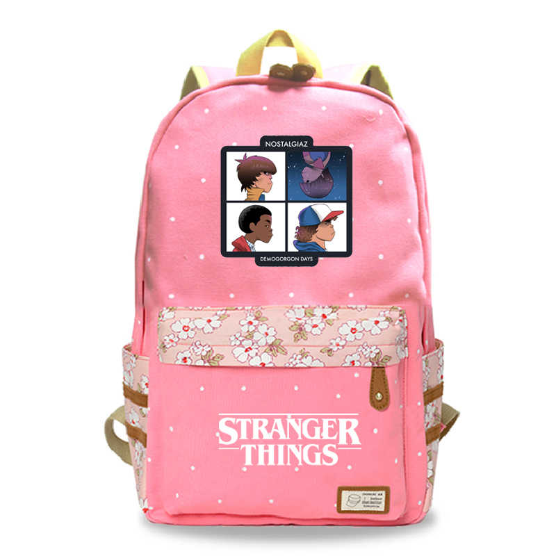 Mochila Stranger Things School Bags For Teenage Girls 1-7 Sac a Dos Floral Backpack Travel Anime Backbag Tassen Notebook Plecak