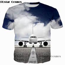 9f6789770024 PLstar Cosmos 2017 summer New design 3D T-shirt The plane   Ship Iceberg