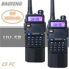 1/2/3PC Baofeng UV-5R 8W Walkie Talkie 10KM UHF VHF 3800mAh CB Ham Radio Station HF Transceiver USB Baofeng 5R 10W Two Way Radio