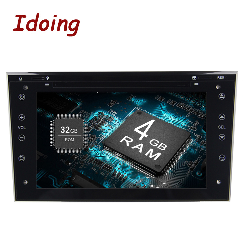 Idoing 4g + 32g Android8 2Din Pour Opel Vectra Corsa D Astra Volant De Voiture Multimédia TV démarrage rapide Intégré 3g disque Balancent
