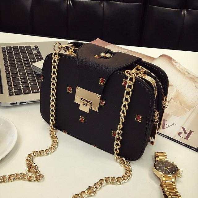 The new han edition fashion women bag mobile packet chain Crossbody bag XY322 3