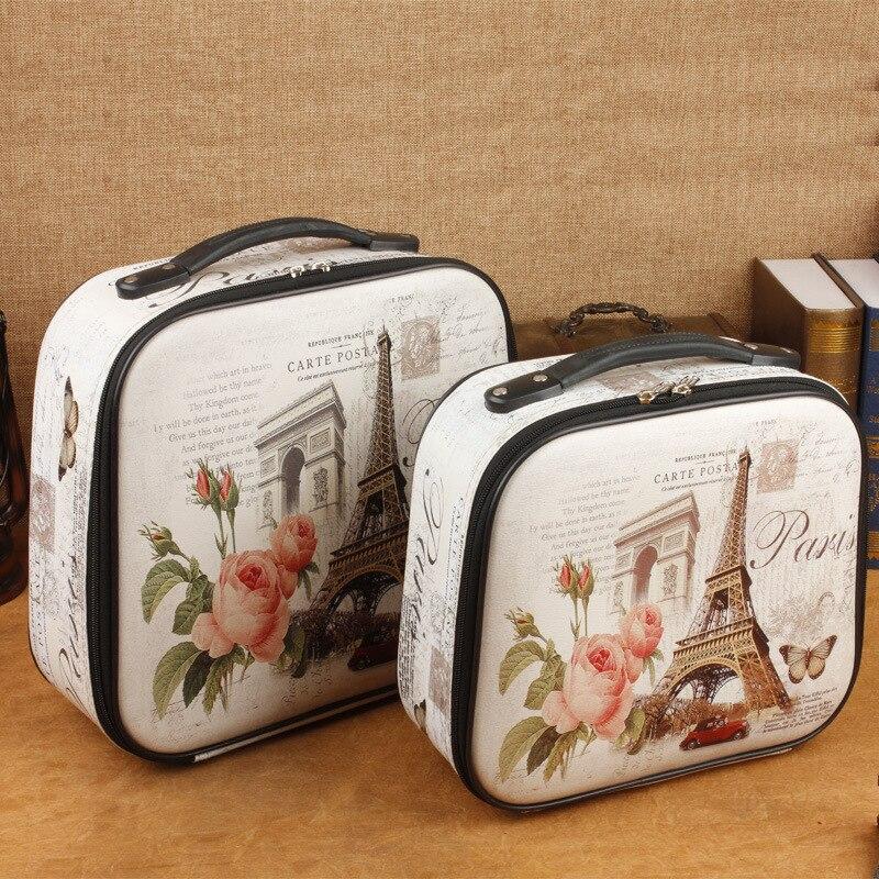 Nouvelle valise vintage en cuir européen étui photographie accessoires fenêtre affichage maison doux 2 pièce tendances produits 2019