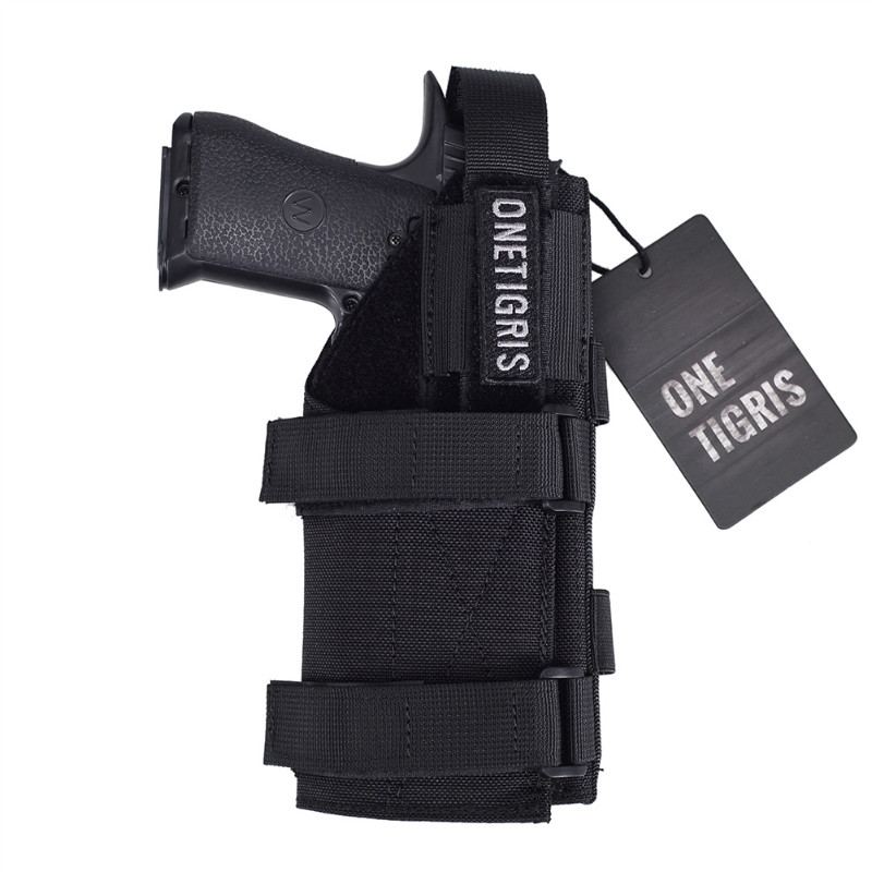 OneTigris մարտավարական հրացան Holster Molle Modular Belt Pistol Holster for Right Hand Shooters Glock 17 19 22 23 31 32 34 35