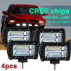 CO LIGHT 2 Pairs High Bright 72w 144w Led Light Bar With Spot Beam 16000lm Led
