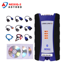NEXIQ-2 USB Link Truck Diagnostic Tool With Full Set NEXIQ 2 USB Link With Software Diesel Truck Interface DHL Free Shipping