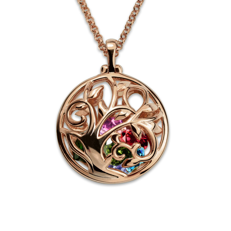 AILIN Tree of Life Necklace Round Cage Family Tree Necklace Rose Gold Color Jewelry for Mother все цены