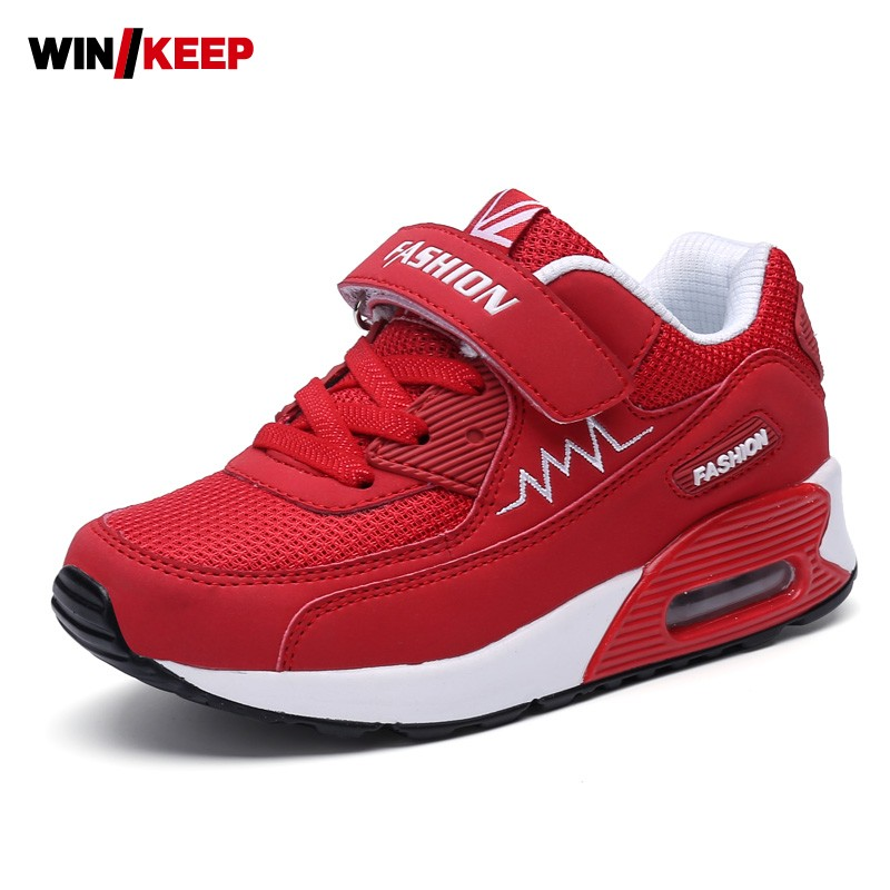 Children Shoes Boys And Girls Air Cushion Shoes Comfortable Mesh Breathable Sneakers Kids Child Running Shoes Plus Size 26-37 children s shoes boys and girls ultralight casual sports shoes children fashion sneakers mesh fabric breathable travel shoes
