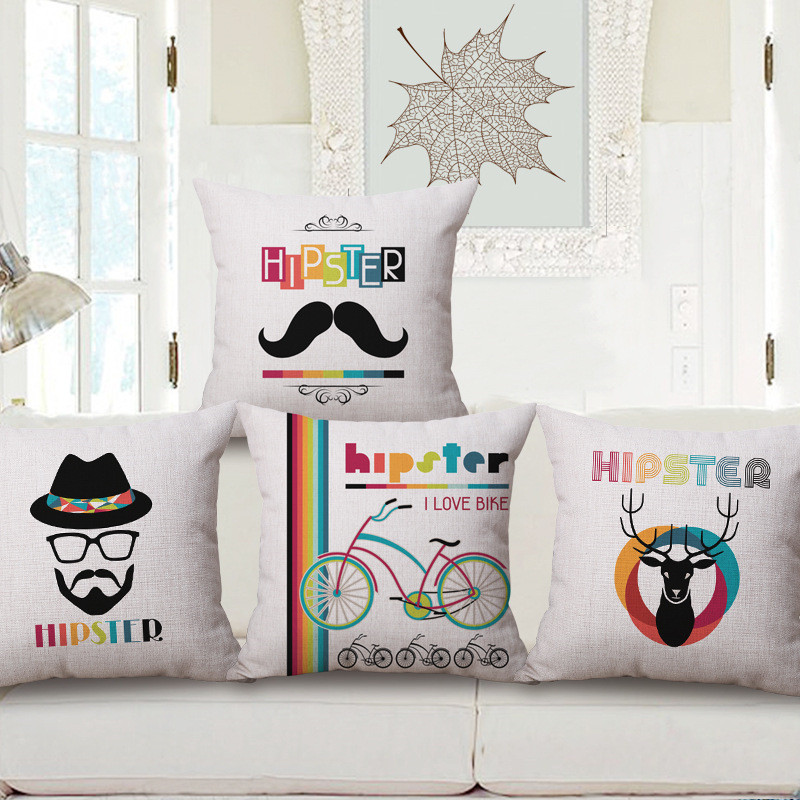 Wholesale Wedding Gift Pillow Cover Fashion Male Rainbow