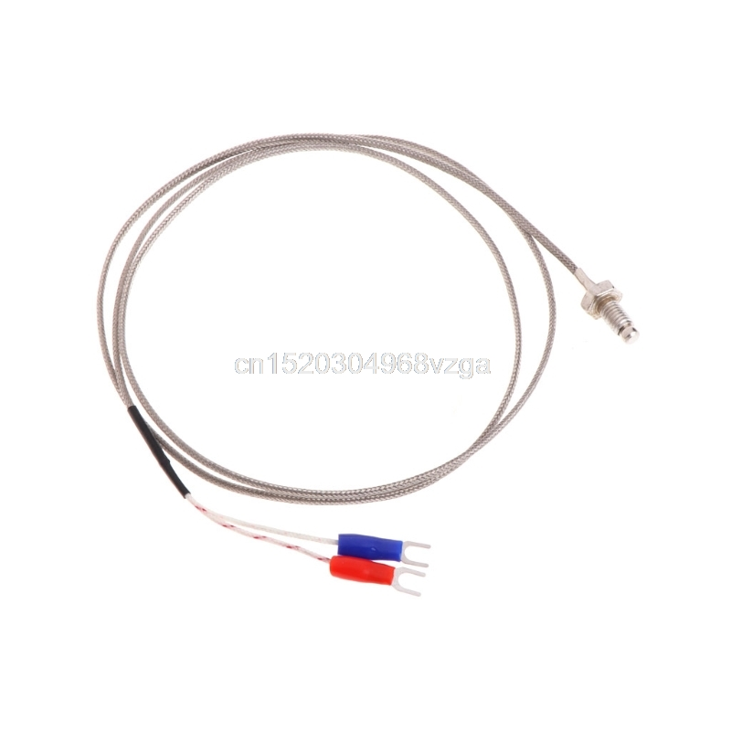 M6 Screw Probe K Type Thermocouple 1m Industrial Temperature Sensor Cable Wire #H028# Drop shipping k type thermocouple probe temperature sensor silver 2 meters