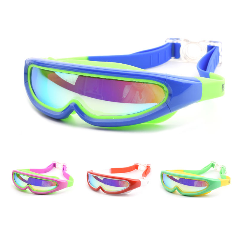 Children Swimming Glasses Professional Boys And Girls Frame Anti-Fog Kids Pool Mask Water Swim Eyewear Silicone Diving Goggles