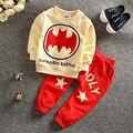 Ropa infantil Spiderman niños niños ropa bebés ropa traje de Batman niños Sport Sets de manga larga ropa de noche del niño