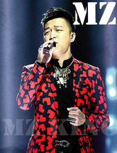 S-XXXL ! Men's brand singer Male DJ nightclub guests The Voice of China I maple black long coat saffron costumes clothing