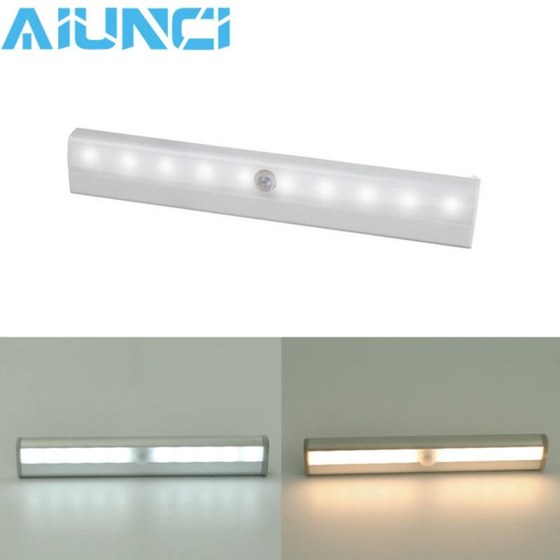 Led-beleuchtung Led Motion Sensor Licht Schrank Wand Lampe Starren Streifen Bar Licht Unter Schrank Küche Schrank Notfall Nacht Beleuchtung Led-balkenleuchten