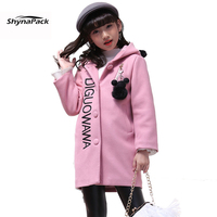 Hooded Tweed Heavy Woolen Jacket For Girls Children S Infantil New Year Coat Hoodies Parka Overcoat