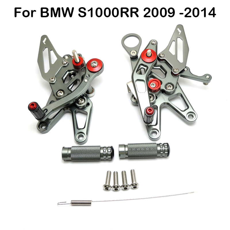Motorcycle Footrest For BMW S1000RR 2009-2014 CNC Adjustable Rearset Foot Rest Foot pegs Motorcycle PartsMotorcycle Footrest For BMW S1000RR 2009-2014 CNC Adjustable Rearset Foot Rest Foot pegs Motorcycle Parts