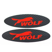 car styling 3D carbon fibre car stickes before and after emblem wolf stickers cose for ford focus 2 focus 3 focus 1 accessories